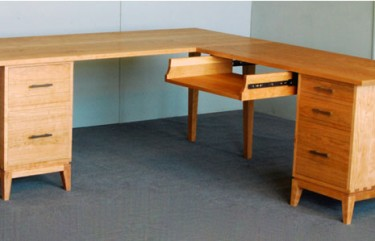 Double Pedestal Desk With Return