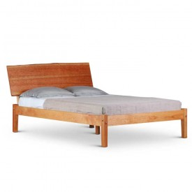Live Edge Headboard Platform Bed