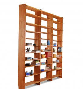 10' high bookwall