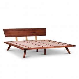 Cosmos Bed in Walnut King-size