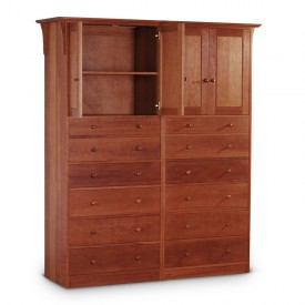Double Armoire Open