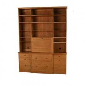 Bookcase with Drop Front Desk