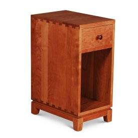 Narrow Dovetail One Drawer Nightstand