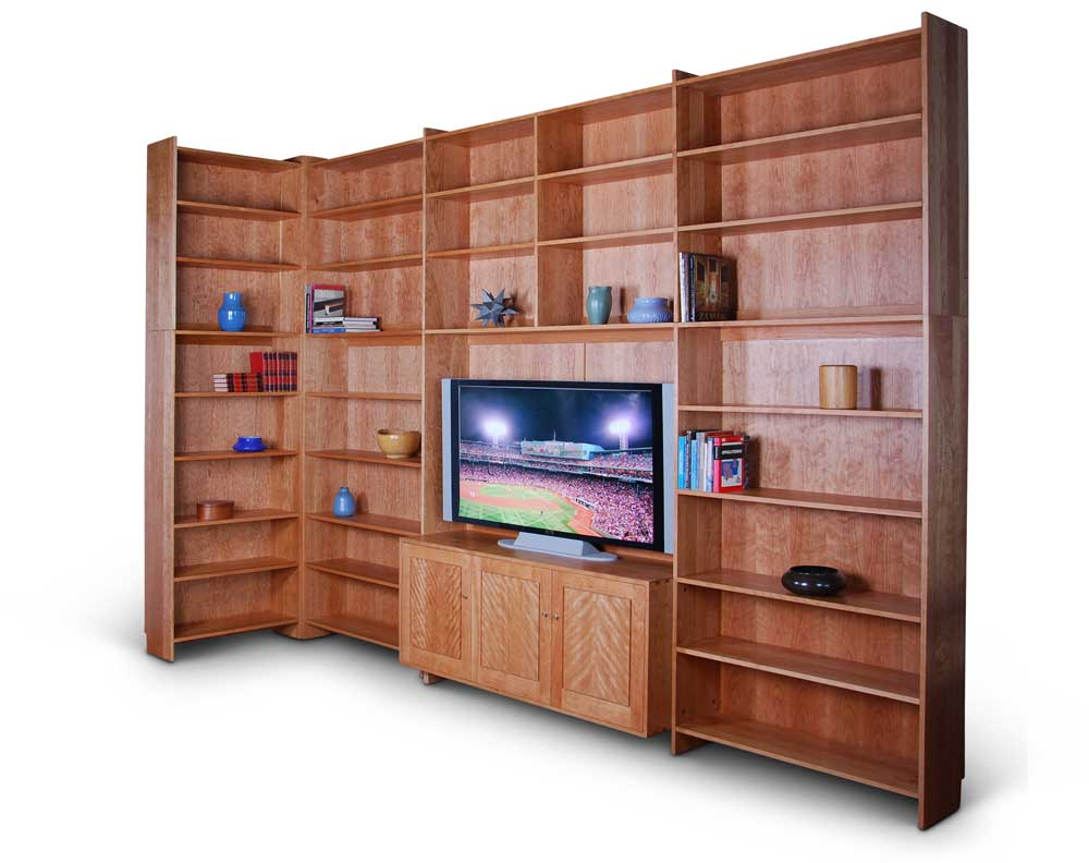 Corner Bookcase in cherry