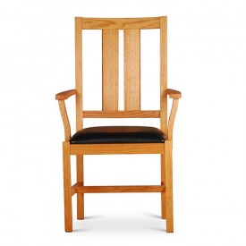 red oak arm chair