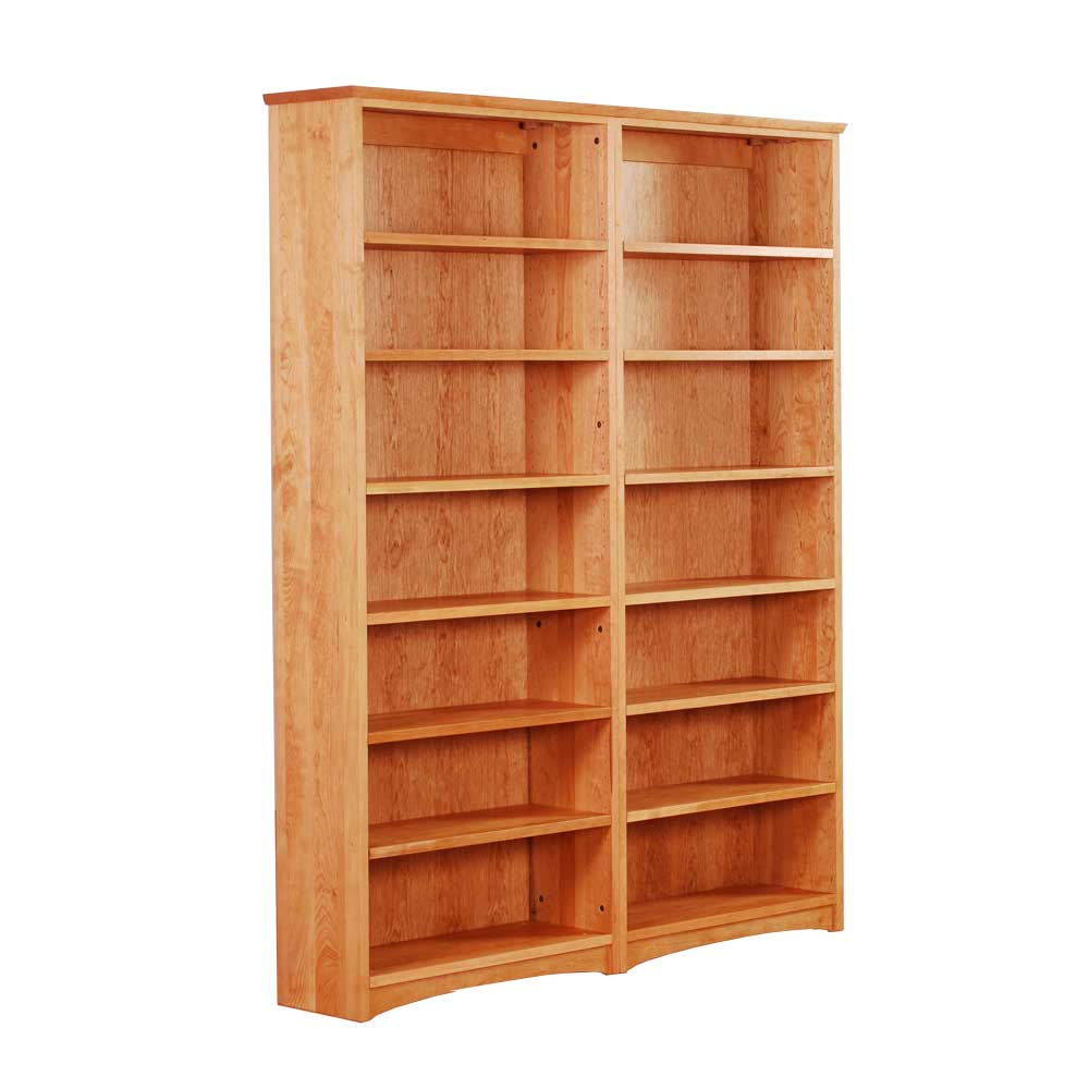 Double Bookcase in Solid Cherry